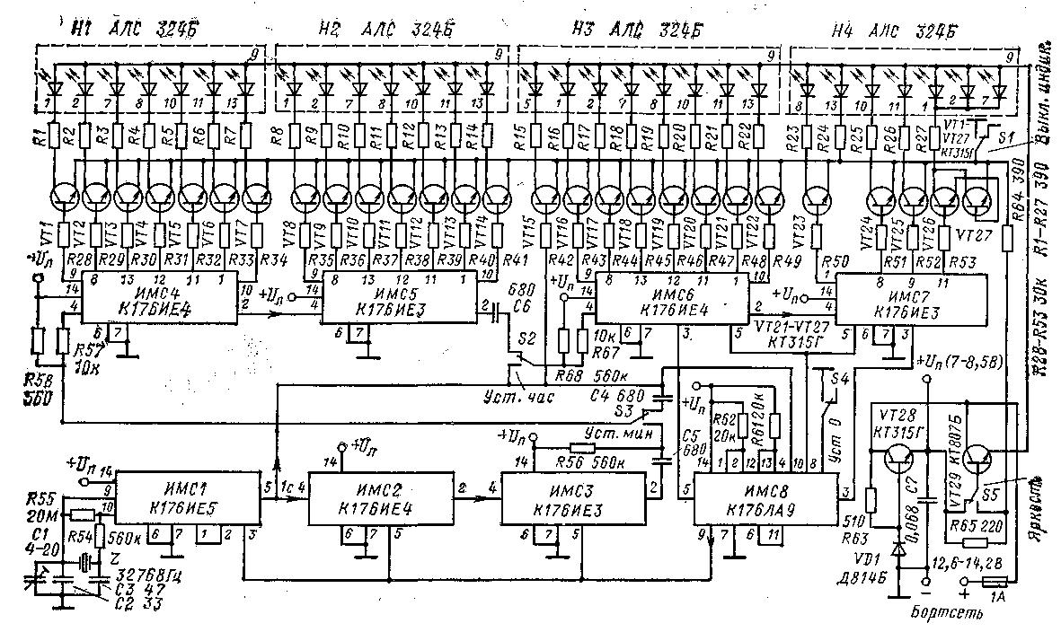 Схемы на микросхемах к176