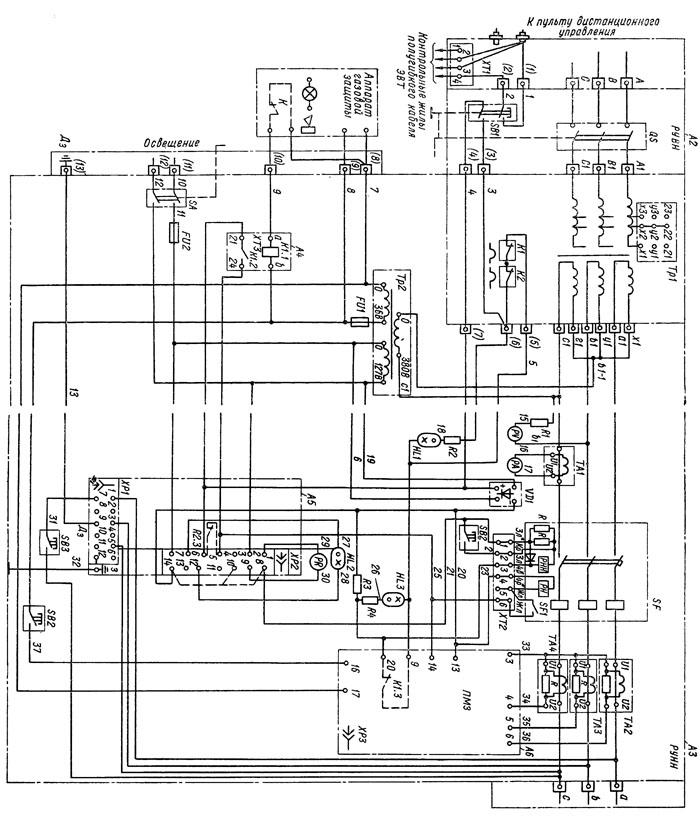 Электрическая схема подстанции