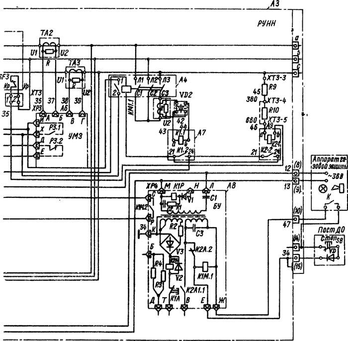 Электрическая схема подстанций