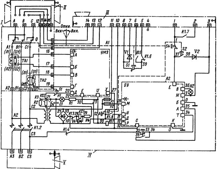 схема пускателя ПВИ-250
