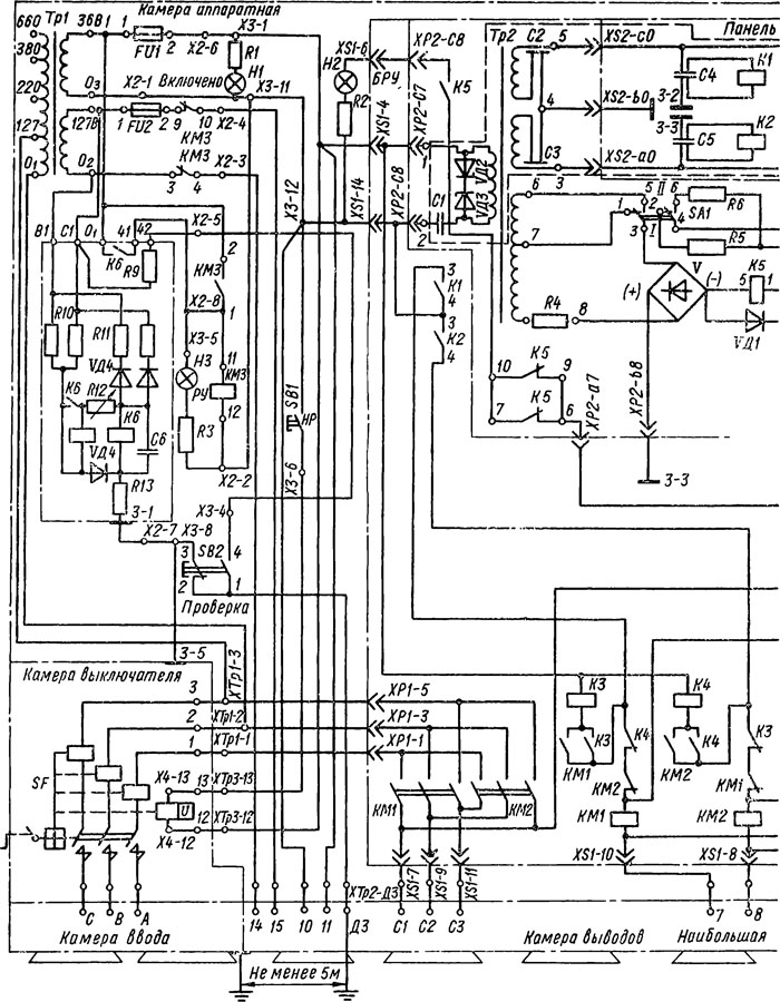 схема пускателя ПРА.