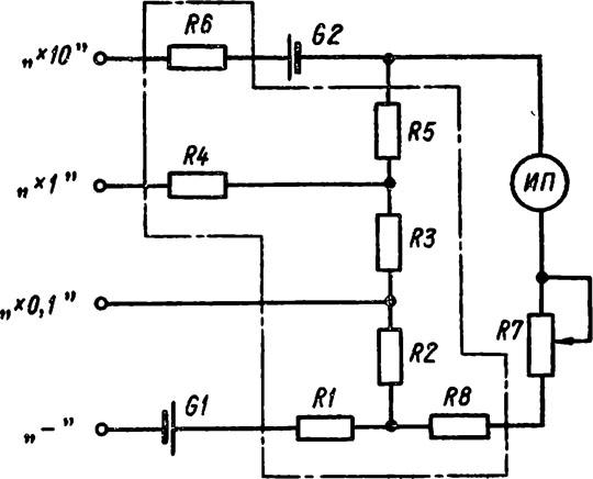 схема омметра М4125/1