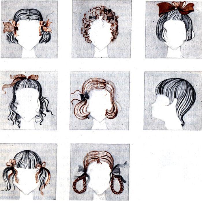 Стрижки для детей картинки с пояснением распечатать