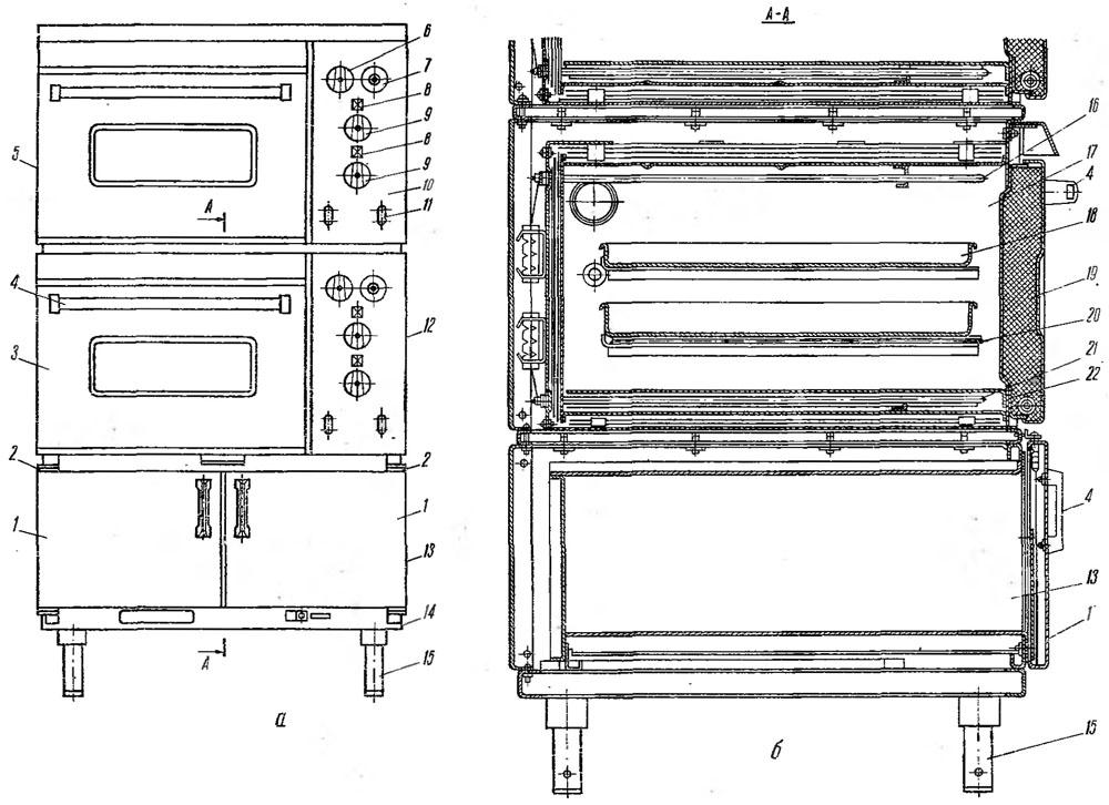 Жарочный шкаф электрическая схема 166
