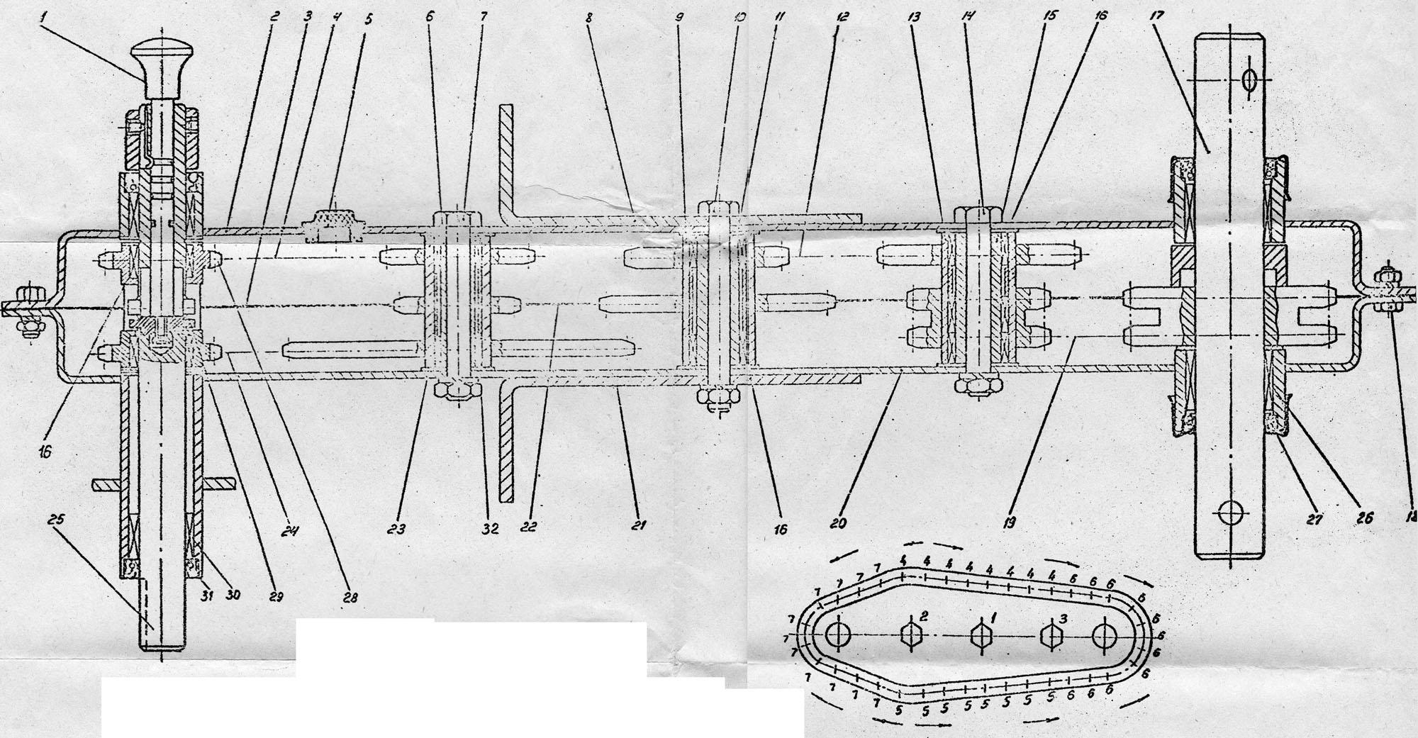 схема редуктора мотоблока