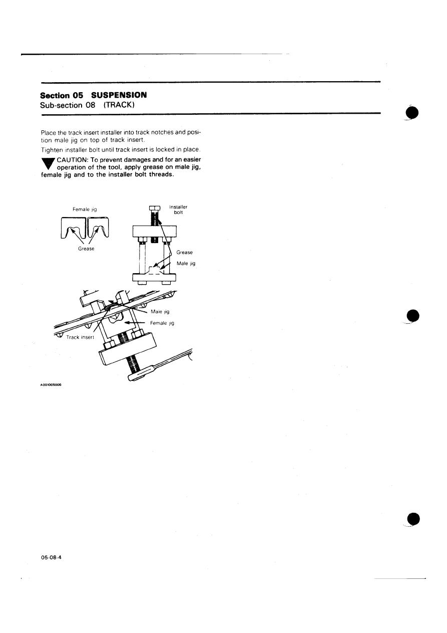 Snowmobile Ski Doo Bombardier (1985 year)  Instruction