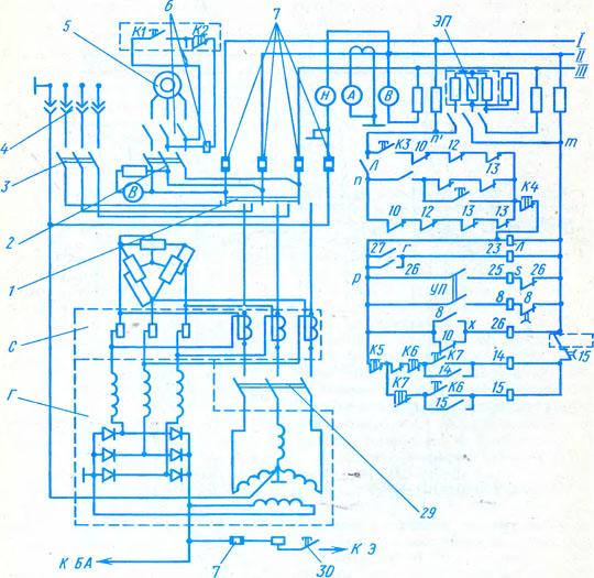 электрическая схема крана