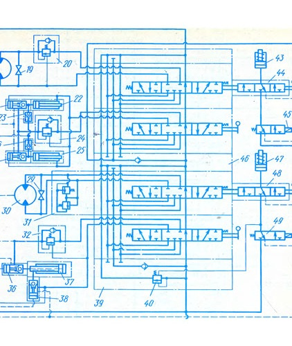 схема привода крана