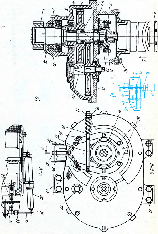 Механизм поворота крана