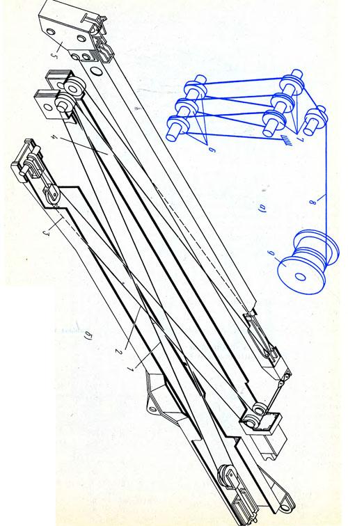 1 - крюковая подвеска, 2