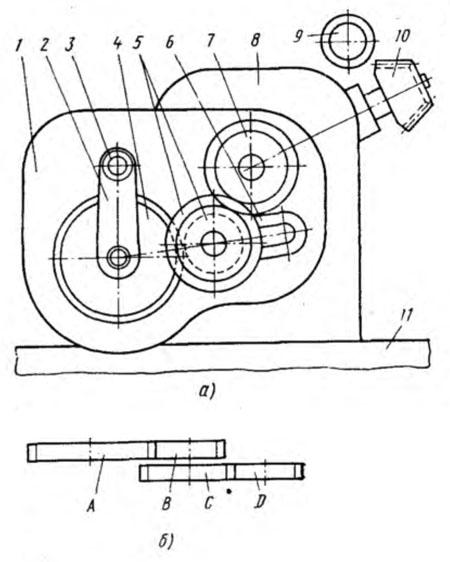 чертеж и сменной шерстеренки гитиары станка 5к32а