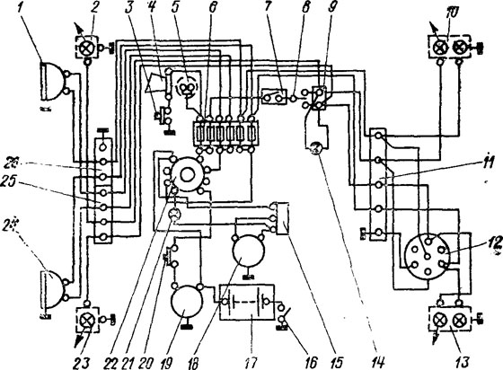 электро схема мотоблока Forte с водяным охлождением