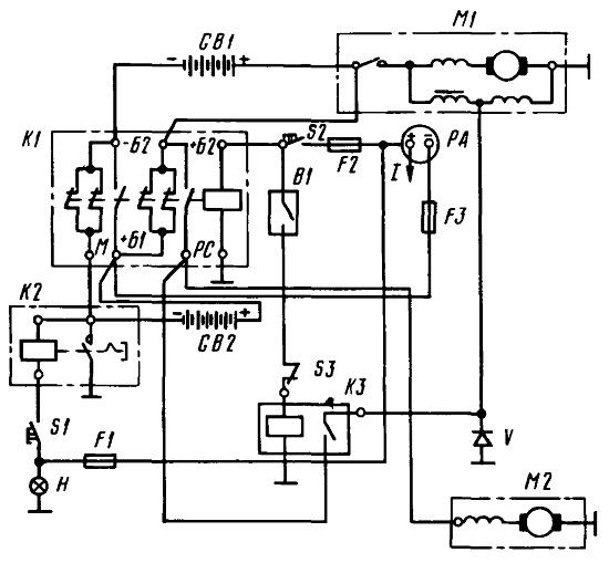 Схема блокировки т-25