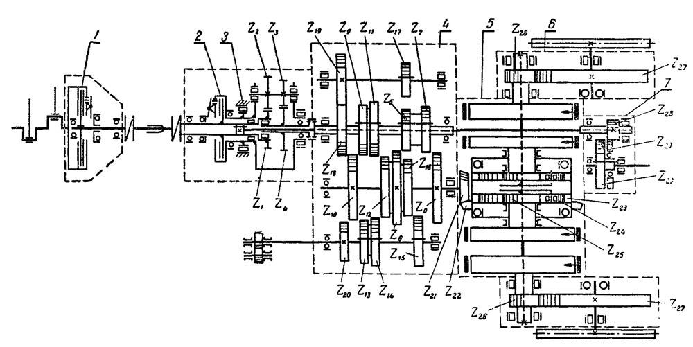 Рис. 54, Кинематическая схема