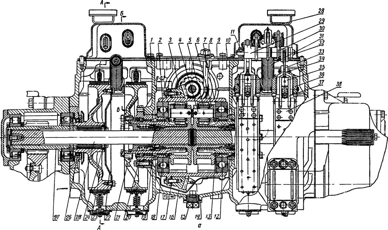 Планетарный механизм дт-75 схема
