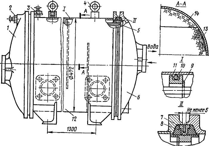 Тепловоз водомасляный теплообменник Кожухотрубный испаритель Alfa Laval DEQ 440 Саров