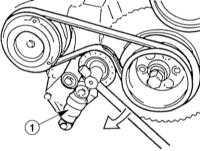 4.1.8 Wymontowanie, zamontowanie i naciąganie paska klinowego BMW 3 (E46)