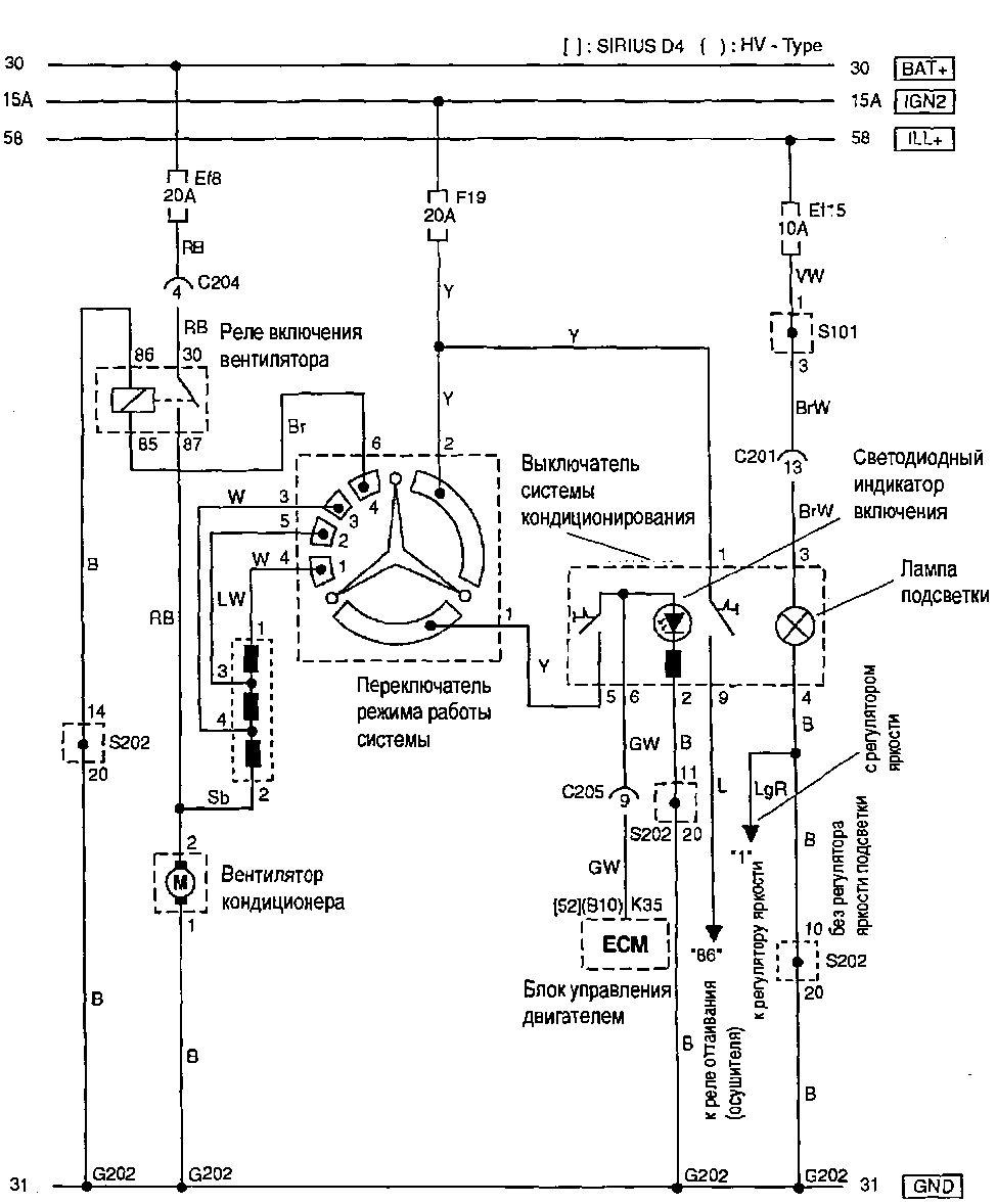 Электрическая схема кондиционера шевроле круз