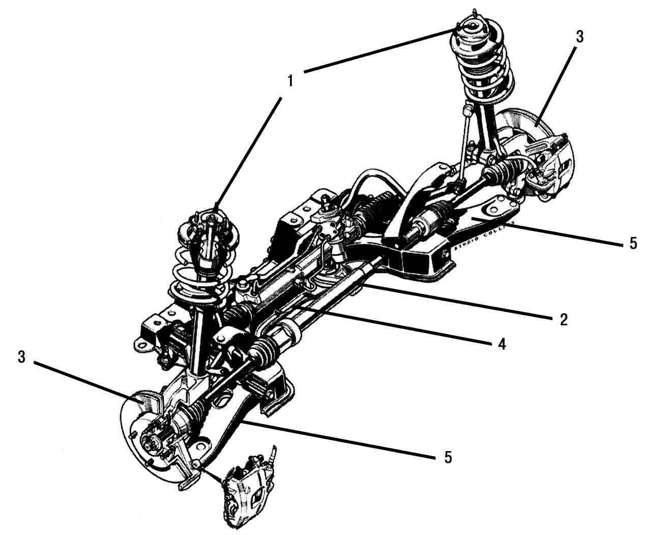 Схема подвески мондео 2001