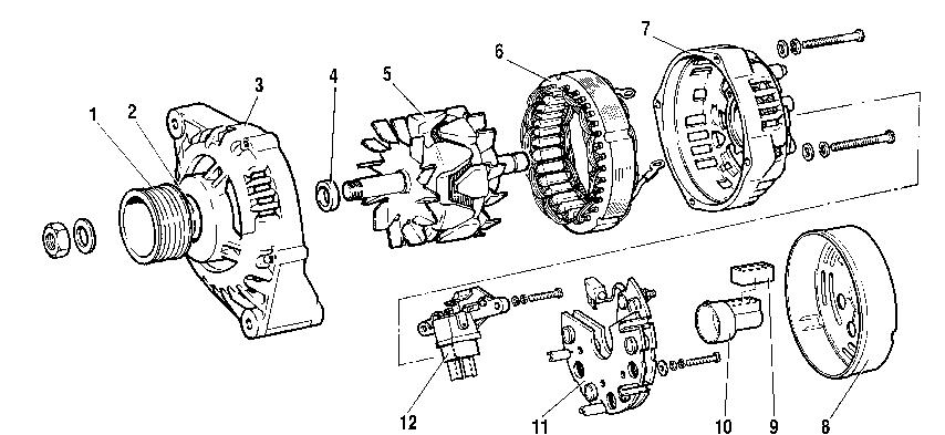схема разборки генератора ваз