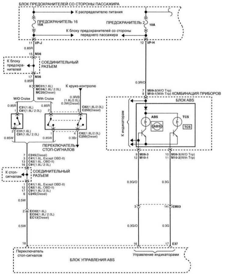 схема j3 электрическая elantra