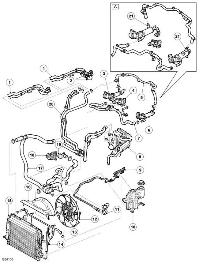 Схема двигателя на land rover discovery