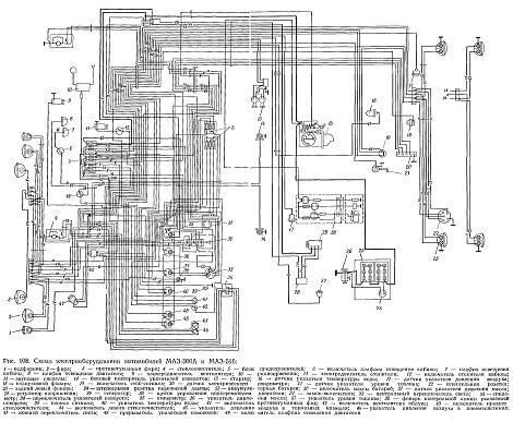 Схема электропроводки на мазе