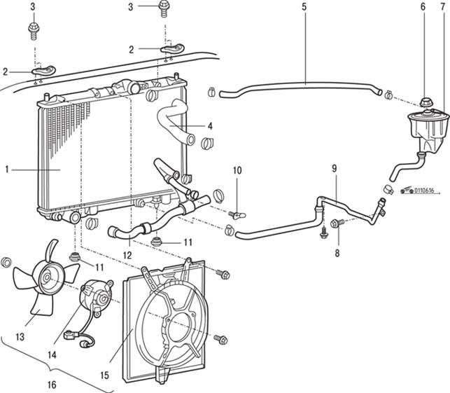 Схема системы охлаждения на лансер 10