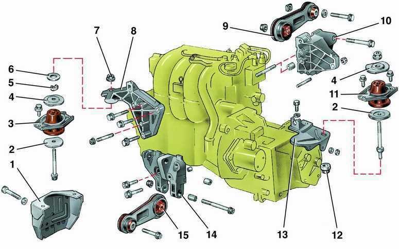 Подушка двигателя ваз 2110 8 клапанов схема
