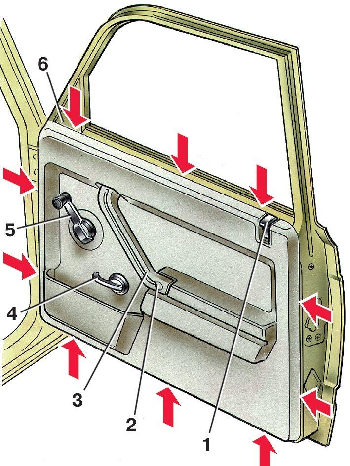 такой на всех ли машинах внутренний непрокрас дверей правильно
