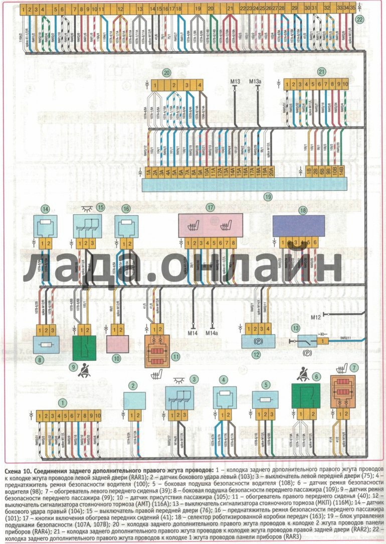 Схема подключения розетки фаркопа на ниву 21214