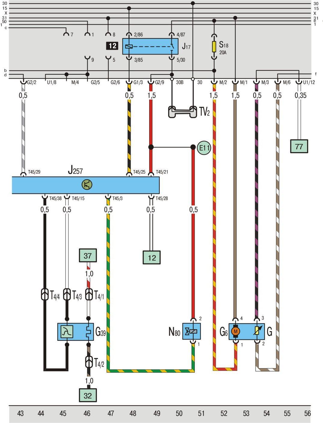 Фольксваген поло электрическая схема бензонасоса
